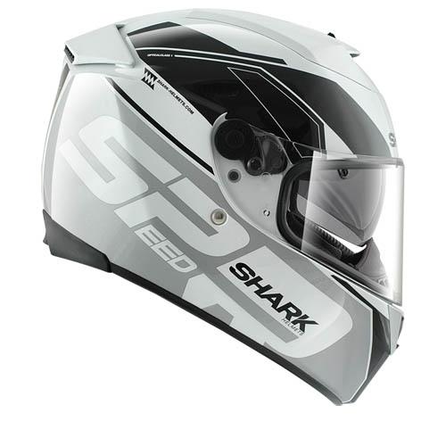 Casco Moto integrale Shark Speed-R Sauer Bianco Silver Nero