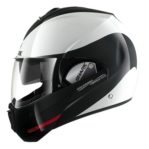 Shark Helmet Evoline3 Hakka White Black red
