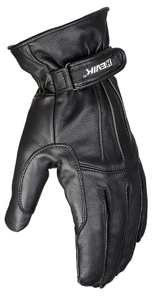 Motorbike Leather Gloves Black Hevik London