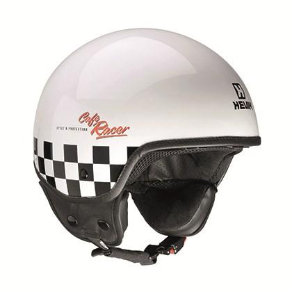 Hevik Cafè Race jet helmet White Black
