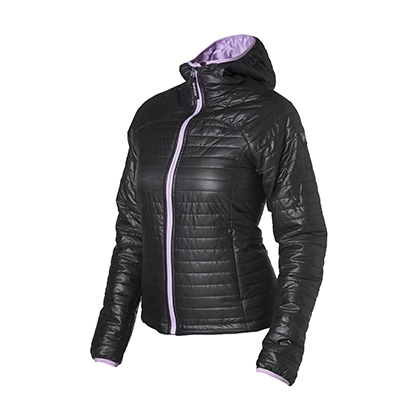 Hevik Down woman jacket Black Purple