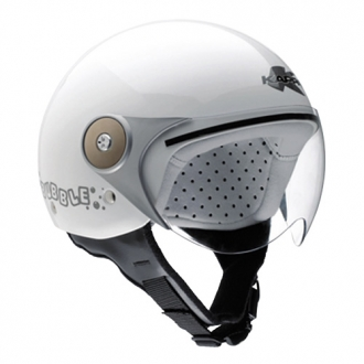 Demijet helmet kappa J01 BUBBLE junior white