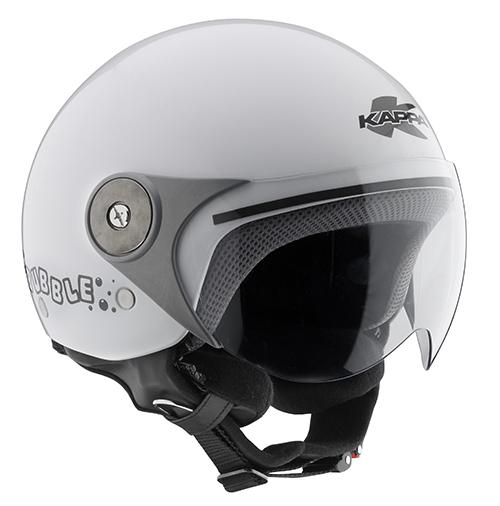 Kappa KJ02 Bubble kid jet helmet White