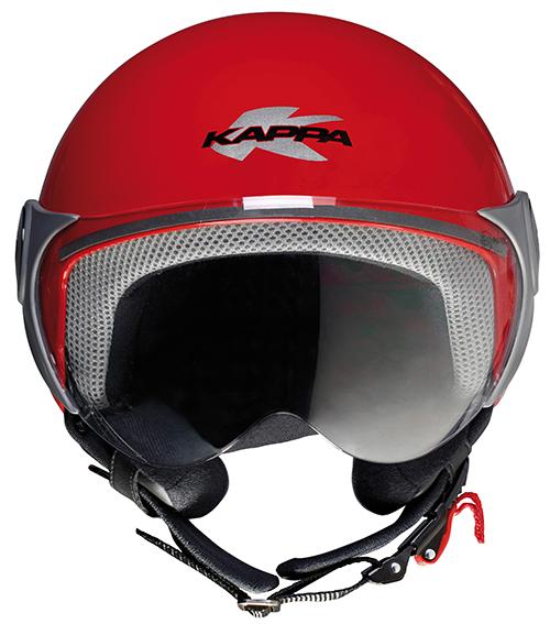 Kappa KJ02 Bubble kid jet helmet Red