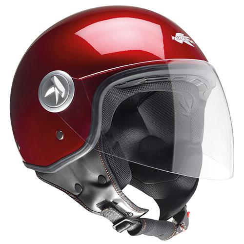 Kappa KV20 Rio long visor jet helmet Bordeaux
