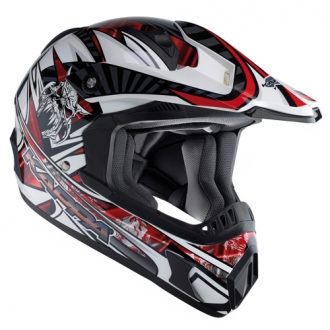 Cross helmet Kappa KV11 Red Skull