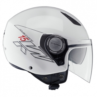 Jet helmet with double visor Kappa KV15 White