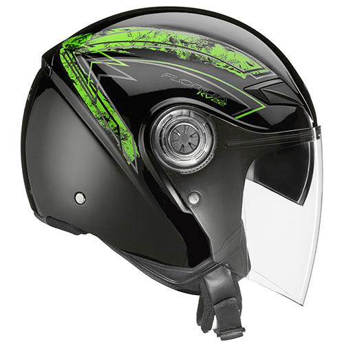 Kappa KV22 Florida jet helmet Black Green