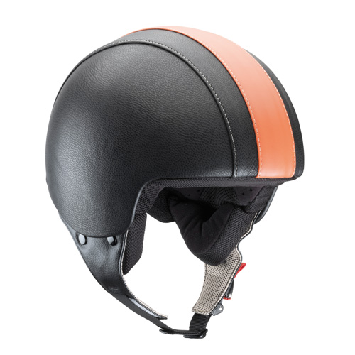 Kappa Demijet helmet KV2 eco leather black orange