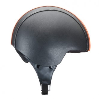 Casco demijet Kappa kv2 eco leather nero arancio