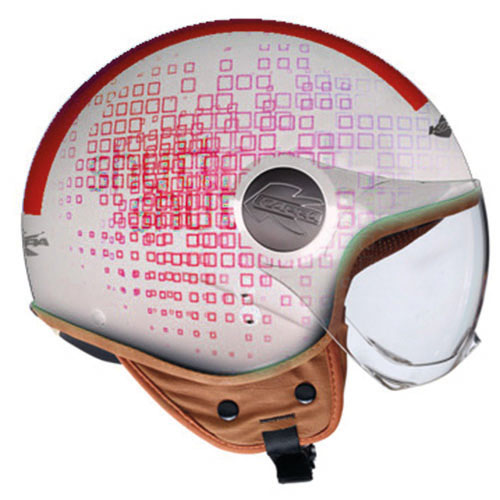 Kappa KV8 City Square jet helmet White Red