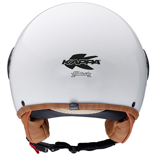 Kappa KV8 new look jet helmet White