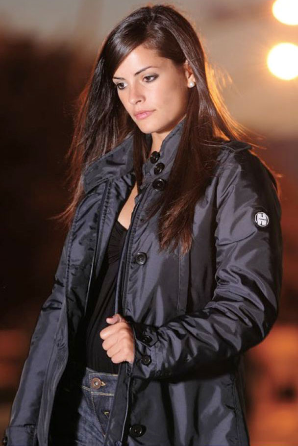 Giacca moto donna Humans Wall Street Navy
