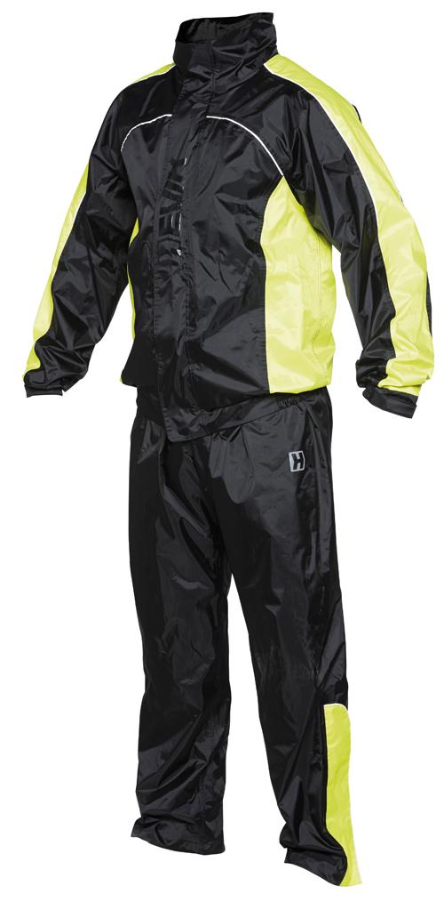 Piece suit Hevik Dry Rain Vision Black Yellow Neon