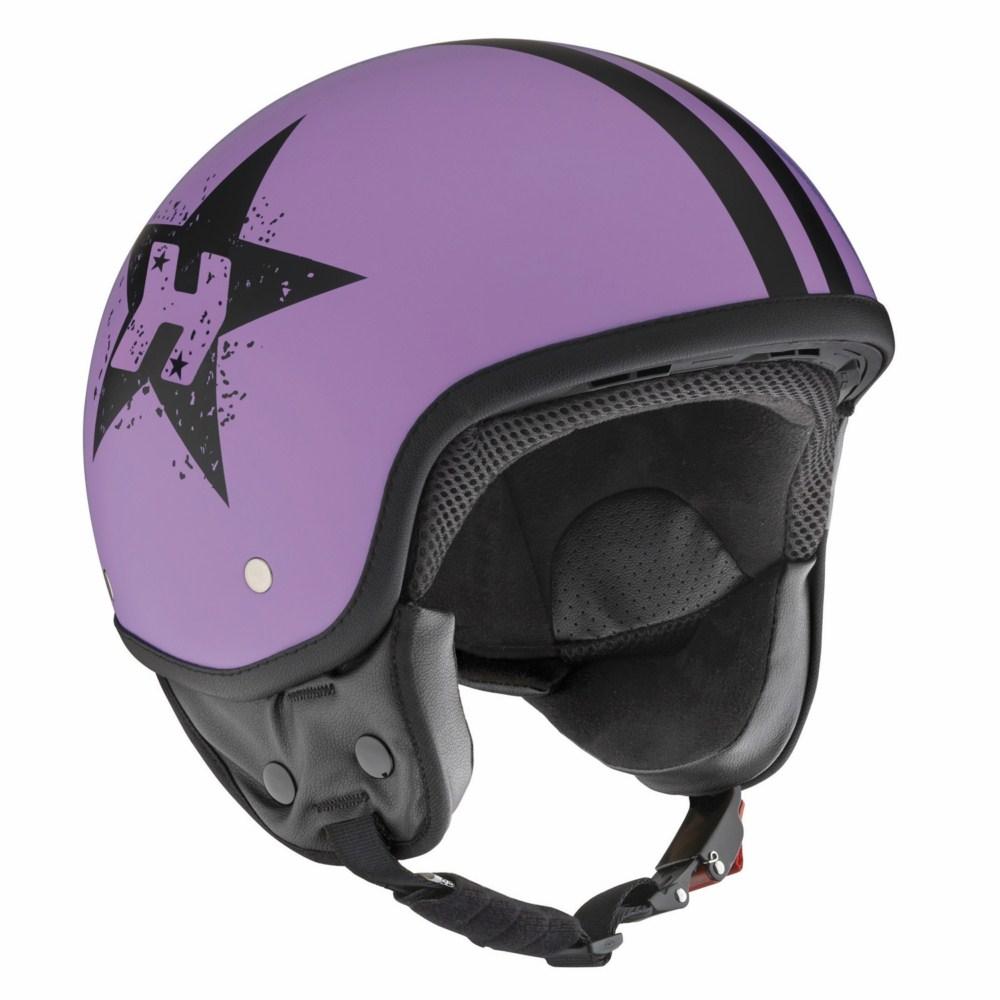 Jet Helmet Hevik HV9 PURPLE STAR