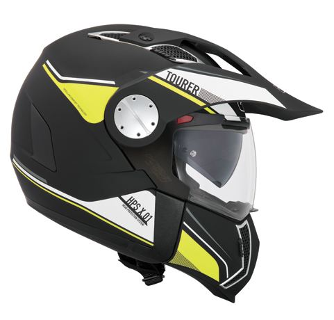 Modular helmet Givi X.01 Tourer Black Yellow Neon