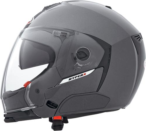 Casco moto Caberg Hyper-X  gunmetal-mentoniera staccabile