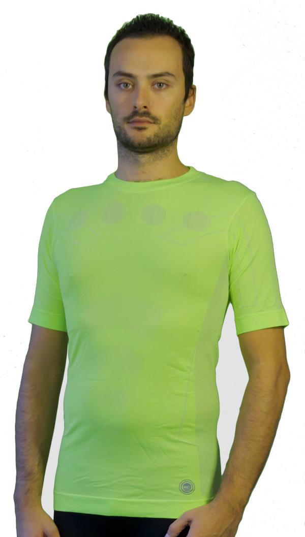 Maglia manica corta Mico Skin Tech MC2 Verde fluo