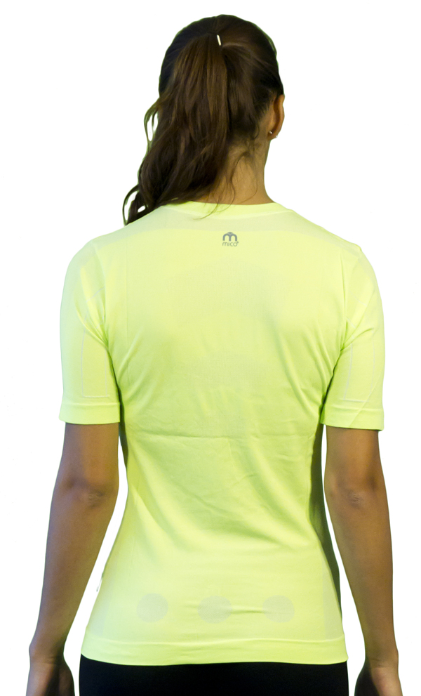 Short-sleeved Women Mico Skin Tech MC2 Green fluorescent