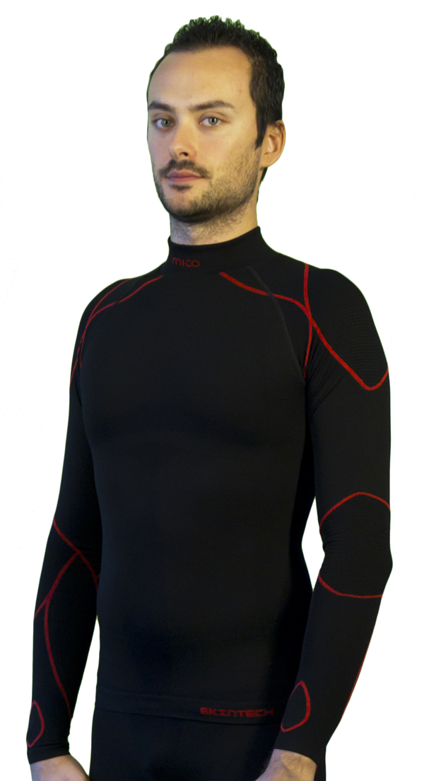 Mock Long Sleeve Mico Warm Black Skin