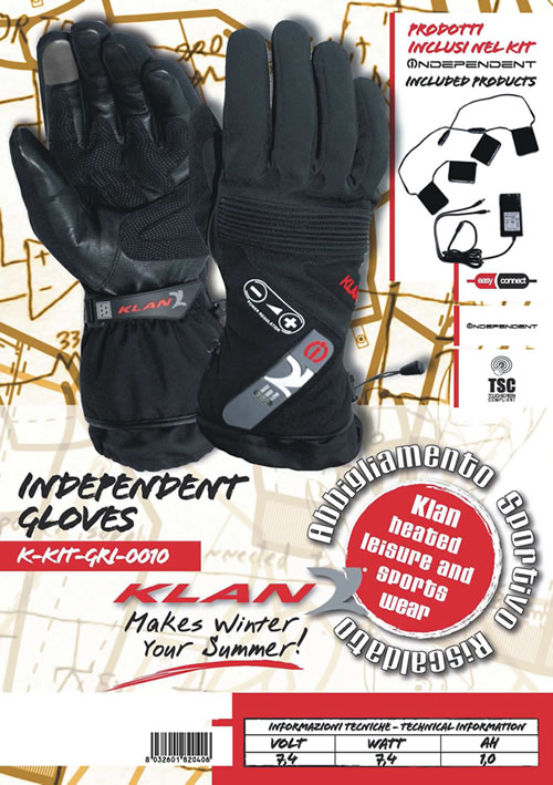 Indipendent Klan heated gloves