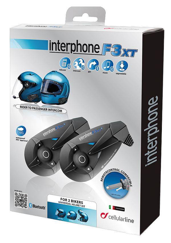 Interfono Bluetooth F3XT kit doppio Cellular Line