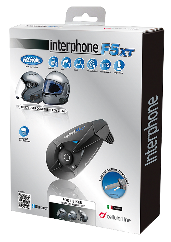 Interfono Bluetooth F5XT kit singolo Cellular Line