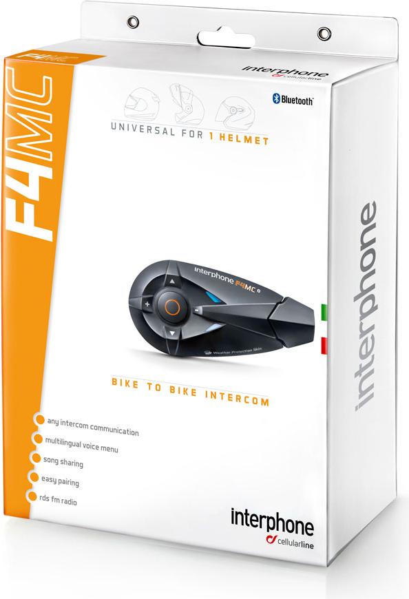 Interfono Bluetooth Cellular Line F4MC da casco singolo