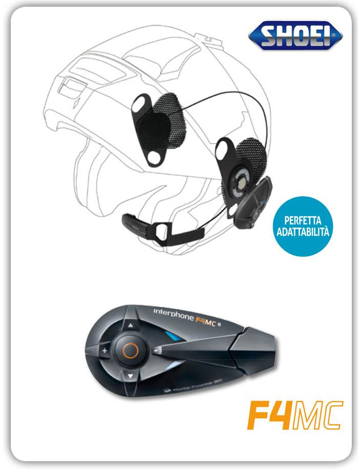 Interfono Bluetooth Cellular Line F4MC + Pro Sound per Shoei