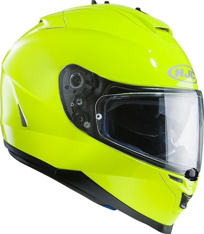 Full face helmet HJC IS17 Fluo Green
