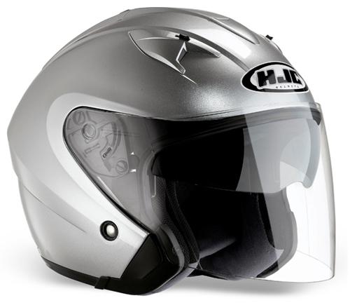 HJC IS33 jet helmet Silver