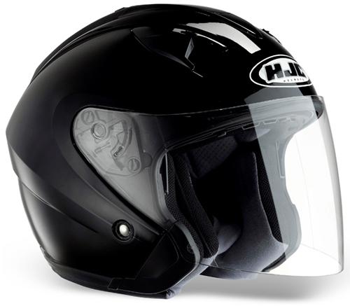 HJC IS33 jet helmet Gloss Black
