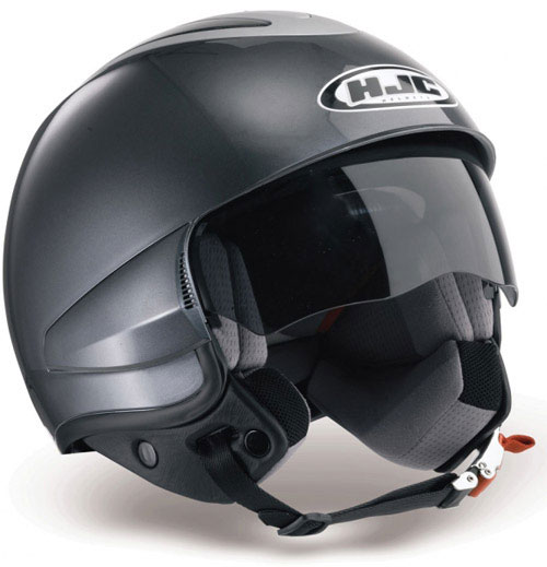Casco moto jet HJC IS35 Rubber Black