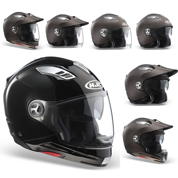 Casco moto modulare HJC ISMULTI all in one Nero Opaco