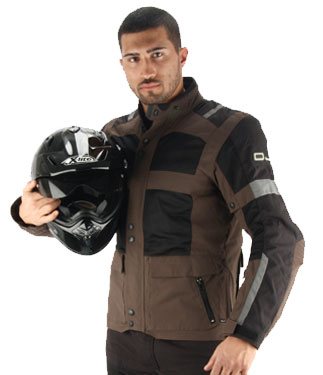 Oj Revenge J motorcycle jacket double layer fumo