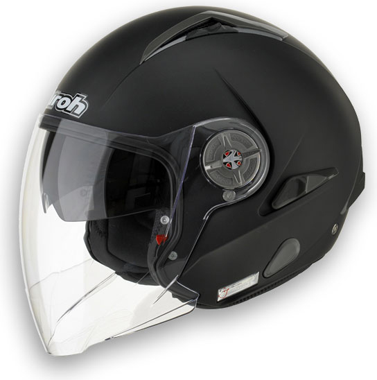 Casco moto Airoh J-105 Color mentoniera staccabile nero opaco