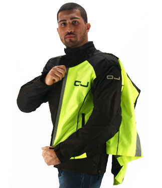 High visibility vests OJ Vis Yellow