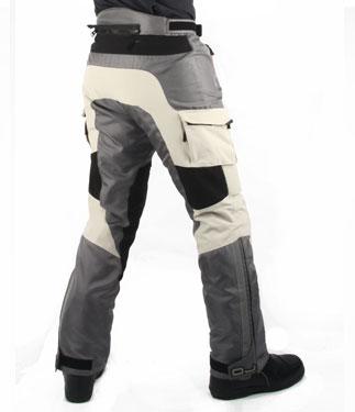 Pantaloni moto OJ DESERT TECH ghiaccio-nero
