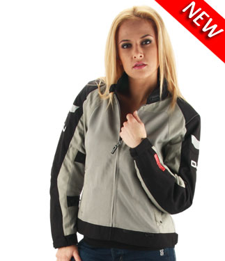 OJ Skill Lady  motorcycle jacket duouble layer grey