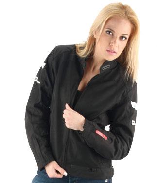 Giacca moto donna OJ SKILL Lady doppio strato nera