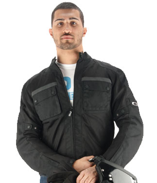 OJ Aircity motorcycle jacket double layer black