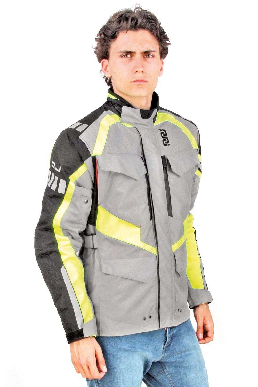 OJ Razor jacket grey black yellow fluo