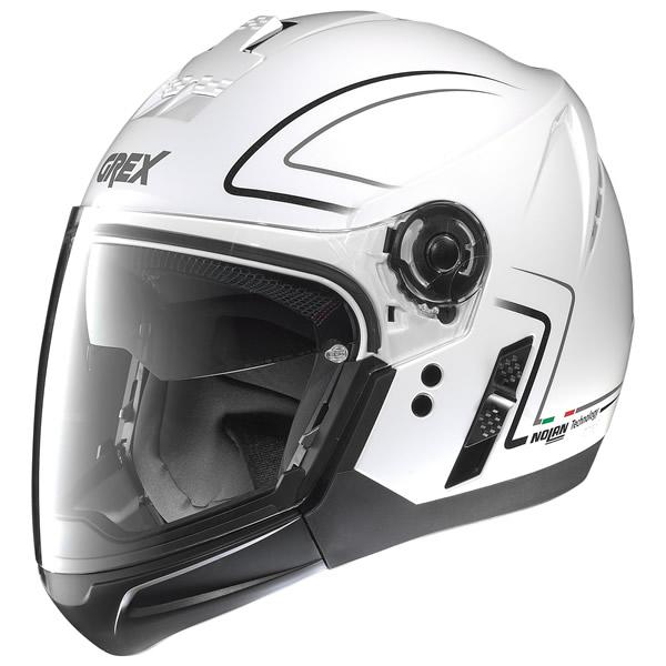 Helmet crossover Grex J2 Pro Loom metal white