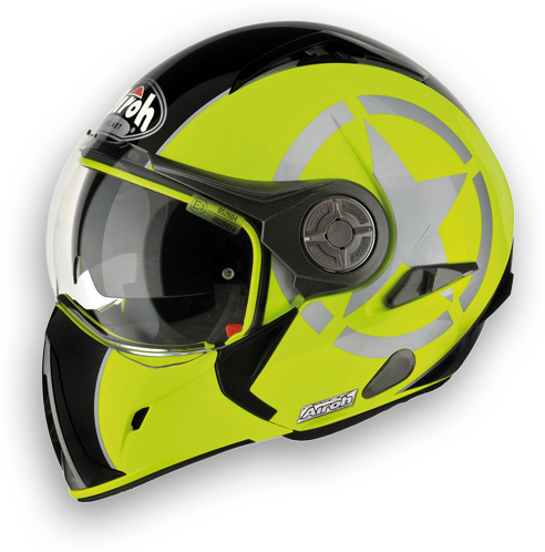 Motorcycle Helmet Airoh J-106 Shot - yellow double approval