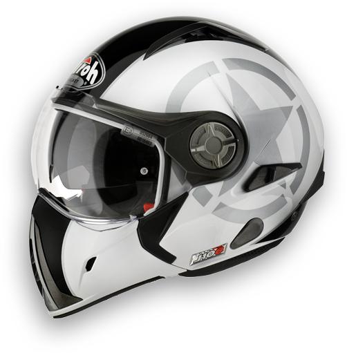 Casco moto Airoh J-106 Shot - doppia omologazione bianco lucido