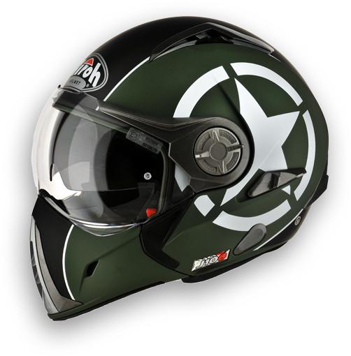 Airoh J-106 Shot modular helmet green