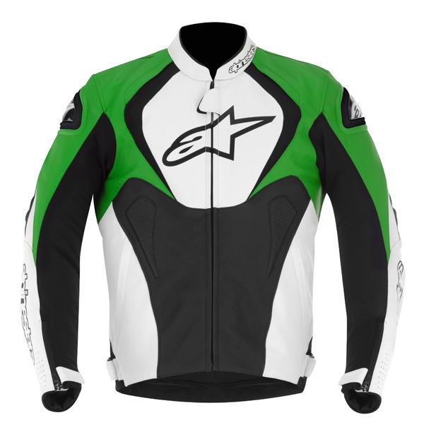 Alpinestars Jaws leather jacket black-white-green