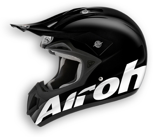 Casco moto off road Airoh Jumper Color nero lucido