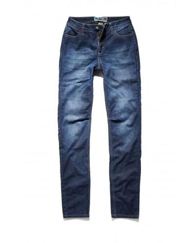 Jeans moto donna PMJ Rider Blu
