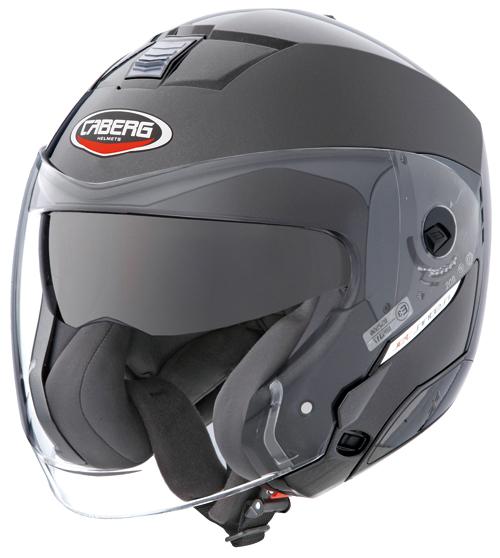 CABERG Jet Sintesi jet helmet col. metal black